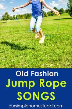 Jump Rope Songs, Jump Rope Games, Family Fun Games, Kid Games, Couple Games, Rhymes For Kids, Kids Fun, Singing Tips, Kids Songs