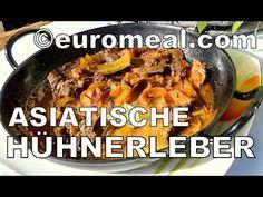 Asiatische Hühnerleber in der Schlemmerpfanne - euromeal.com - Fa Nadya ... Beef, Chicken, Food, Eating Well, Easy Meals, Food Food, Cooking, Meat, Eten