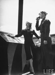 For the Boys: Veronica Lake visits with US Army Air Corps flying cadets, 1941