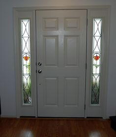 STAINED GLASS REBURBISHED SIDELIGHTS IN HENDERSONVILLE,NC HOME SIDELIGHTS MADE LARGER TO FIT OPENING