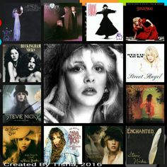 Stevie Nicks Albums Collage Created By Tisha 05/18/18 ***might be a couple missing but these are my favorites***