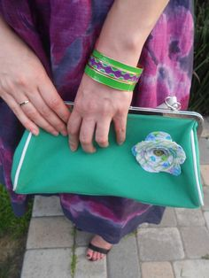 Urban Outfitters purse with Target bracelets.