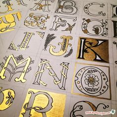 Learn the basics of drawing illuminated lettering with this video tutorial! Featuring a gold Pentouch marker.