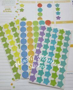 135 Multi Planner Stickers, Erin Condren Life Planner, ECLP, Planner stickers, Planner Decoration, checklist, Circle Stickers, star stickers by StickerSheets