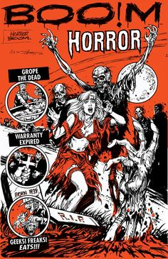 Horror BOOm...A zine of fan love for pre-code horror comics. via Etsy.