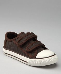Take a look at this Brown Canvas Sneaker by Launch on #zulily today!