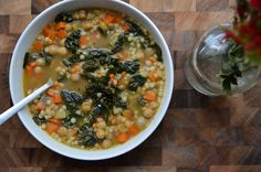 Hearty Spinach and Chickpea Soup   Recipe   Chickpea Soup, Chickpeas ...