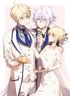 Merlin, Arthur, and Arturia Fate Zero, Merlin, Fate Stay Night Series, Arturia Pendragon, Fate Servants, Fate Anime Series, Manga Pictures, Anime Couples, Anime Guys
