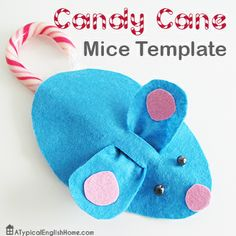 Candy Cane Mice Template {from Angela @ Typical English Home}