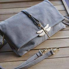 dragonfly leather clutch bag by martha jackson | notonthehighstreet.com