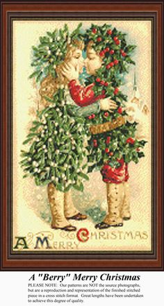A Berry Merry Christmas, Stitch Pattern. Kit and Digital Download available.
