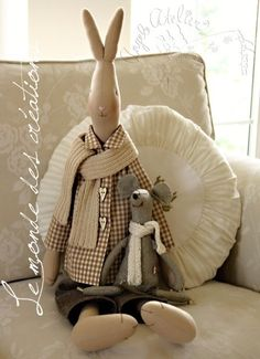 Maileg Bunny, Rabbit Toys, Doll Quilt, Funny Bunnies, Sewing Toys, Waldorf Dolls, Soft Dolls, Soft Sculpture, Fabric Dolls
