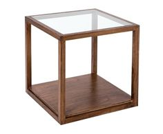 """Konferenční stolek """"Igerne"""", 60 x 60 x 60 cm Glass Side Tables, Round Side Table, Round Tray, Home Additions, Wood Glass, Furniture, Cofee Tables, Home Decor, Decorating Bathrooms"""