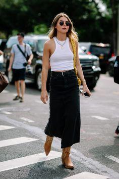 Simple Street Style, New York Fashion Week Street Style, Street Style Summer, Cool Street Fashion, Street Style Looks, Basic Style, Street Chic, Fashion Week Paris, London Fashion