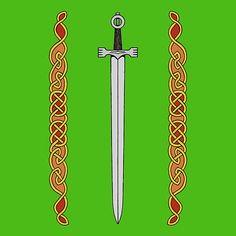 Irish Sword and Knotwork