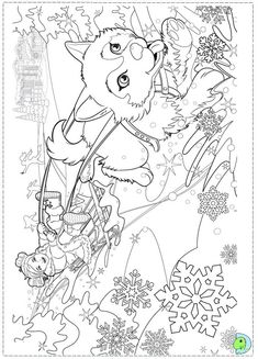 Winter Coloring Page New Year Coloring Pages, Barbie Coloring Pages, Printable Adult Coloring Pages, Coloring Pages For Girls, Christmas Coloring Pages, Coloring Pages To Print, Free Coloring Pages, Coloring For Kids, Coloring Books