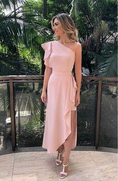 Charming One Shoulder Long Prom Dress 1685 vestidos! Dress Outfits, Fashion Dresses, Dress Up, Dress Long, Maxi Dresses, Dress Prom, Dress Beach, Rose Dress, Elegant Dresses For Women