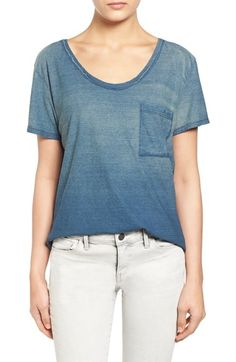 Treasure&Bond Ombré Scoop Neck Pocket Tee available at #Nordstrom