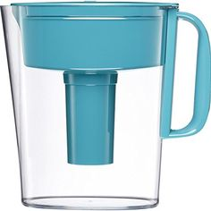 Drink healthier, great tasting tap water with this BPA free Brita 5 cup water pitcher. With the Advanced filter technology, Brita cuts the taste and odor of chlorine to deliver great tasting water, and is certified to reduce copper, cadmium and mercury impurities, which can adversely affect your... more details available at https://www.kitchen-dining.com/blog/water-coolers-filters/product-review-for-brita-small-5-cup-metro-water-pitcher-with-filter-bpa-free-turquoise/