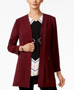 Alfani Open-Front Soft-Knit Blazer, Only at Macy's - Blazers - Women - Macy's