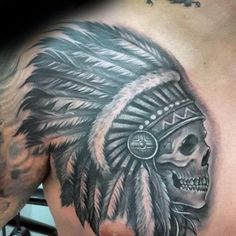 Image Gallery indian skull tattoo