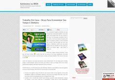 Blog criado para apresentar negócios online comprovados para se ganhar dinheiro trabalhando em casa