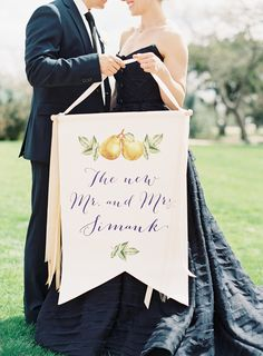 custom calligraphy sign | Photography: Mint Photography - mymintphotography.com