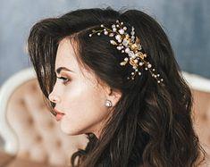 Bridal hair vine Crystal bridal crown Bridal headpiece