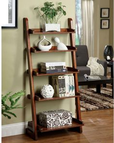 """Three Posts Brownville 55"""" Leaning Bookcase"""