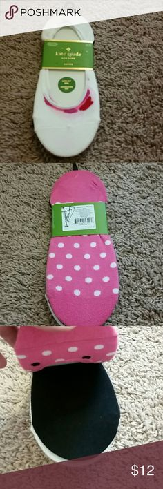 Socks 3 pairs of kate spade liner socks pink with polka dots black and what with a small pink design kate spade Accessories