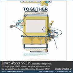 Layer Works No. 319- Studio Double-D Templates- LT426170- DesignerDigitals
