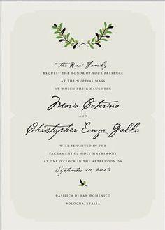 REVEL: Italiano Wedding Invitation