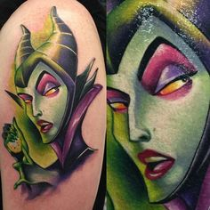 """Done by tattoo artist @audie_tattoos #disneytattoos #disneytattoo #disneytatts #Disney #kcco #WDW #dcp #Maleficent #girlswithtattoos"""