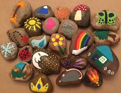 story telling stones - pick a rock, tell your tale, and then ... pick another