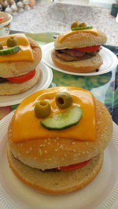 "Yummy ""Monster burgers"" 😉👹👹"