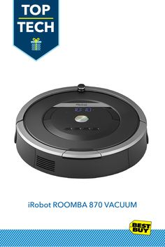 "iRobot Roomba 870 Vacuum Cleaning Robot - Black/Gray :: Know someone who could use a little more ""free time""? We suggest the iRobot Roomba. The Roomba vacuum features AeroForce performance cleaning with a HEPA filter to handle every job with precision all without lifting a finger. The Roomba 870 robotic vacuum runs automatically, scouring dirt and debris from every nook and cranny of the room—not to mention entertaining curious pets. It's the ultimate holiday cleanup."