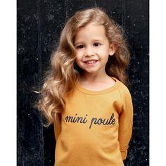 Le sweat Mini Poule - moutarde