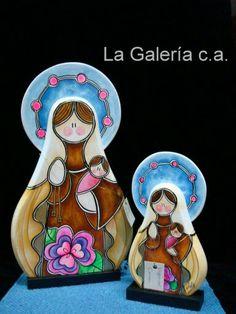 Virgen del Carmen Wood Crafts, Diy Crafts, Pintura Country, Crayon Art, Christmas Time, Catholic, Religion, Christmas Decorations, Clip Art