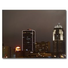 USA - Iowa - Des Moines - Building Lights