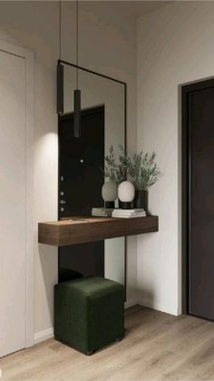 Home Room Design, Home Interior Design, Living Room Designs, Interior Decorating, Hall Interior, Apartment Interior, Apartment Living, Studio Apartment, Home Entrance Decor