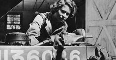 Photos from 1945 show Queen Elizabeth when she worked as a truck mechanic in the Women's Auxiliary Territorial Service.