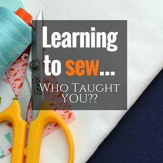 Learning to sew used to be a time honored tradition passed down through the generations but these days everyone has a different story. These are amazing! Sewing Blogs, Sewing Hacks, Sewing Crafts, Sewing Projects, Tutorial Sewing, Sewing Tutorials, Sewing Ideas, Nancy Zieman, I Am Awesome