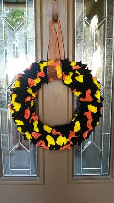 A personal favorite from my Etsy shop https://www.etsy.com/listing/249038832/halloween-felt-wreath-christmas-wreath