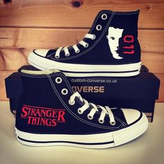 Painted version of the Stranger Things Eleven design customconverse conversehellip
