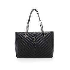 Rental Saint Laurent Matelasse Chevron Monogram Shopping Tote (1.390 BRL) ❤ liked on Polyvore featuring bags, handbags, tote bags, black, quilted tote, chevron tote bag, black tote, zip tote bag and monogram tote