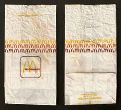 I'm so sad that at Labels Zoo we make labels now - they were much cooler in the 80's 90s mcdonalds packaging. A Bag (as in size A!).