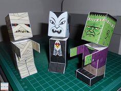 Monster Candy Dispenser Papercrafts