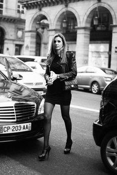 Street style en la alta costura de Paris primavera verano 2013: bolso 2.55 de Chanel