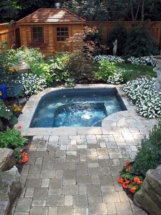 31 Affordable Small Pool Design Ideas For Backyard. The most frequent motive for obtaining a swimming pool is for family fun and leisure. A backyard pool is a Small Backyard Gardens, Small Backyard Landscaping, Garden Pool, Backyard Ideas, Landscaping Ideas, Patio Ideas, Small Backyards, Garden Ideas, Pool In Small Backyard