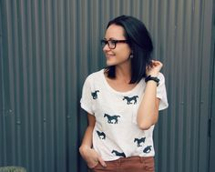DIY horse printed tee...all the details here!!